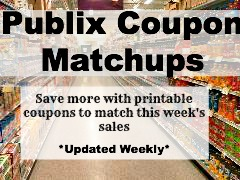 Publix Coupon Matchups