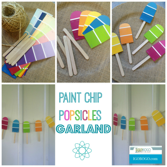 Paint Chip Popsicles Garland