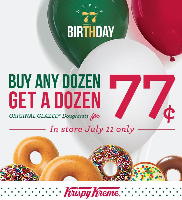 Krispy Kreme Doughnuts for .77