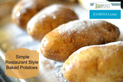Restaurant Style Baked Potatoes