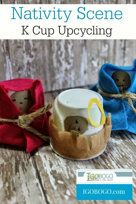 k cup upcycling nativity scene