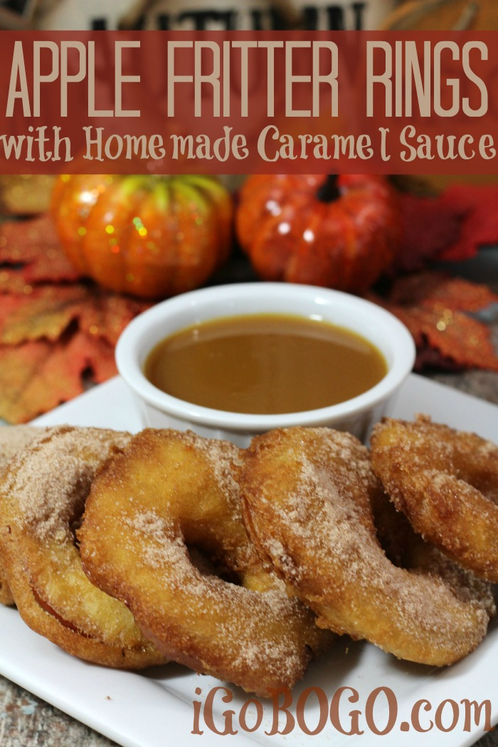Apple Fritter Rings Recipe with Homemade Caramel Sauce