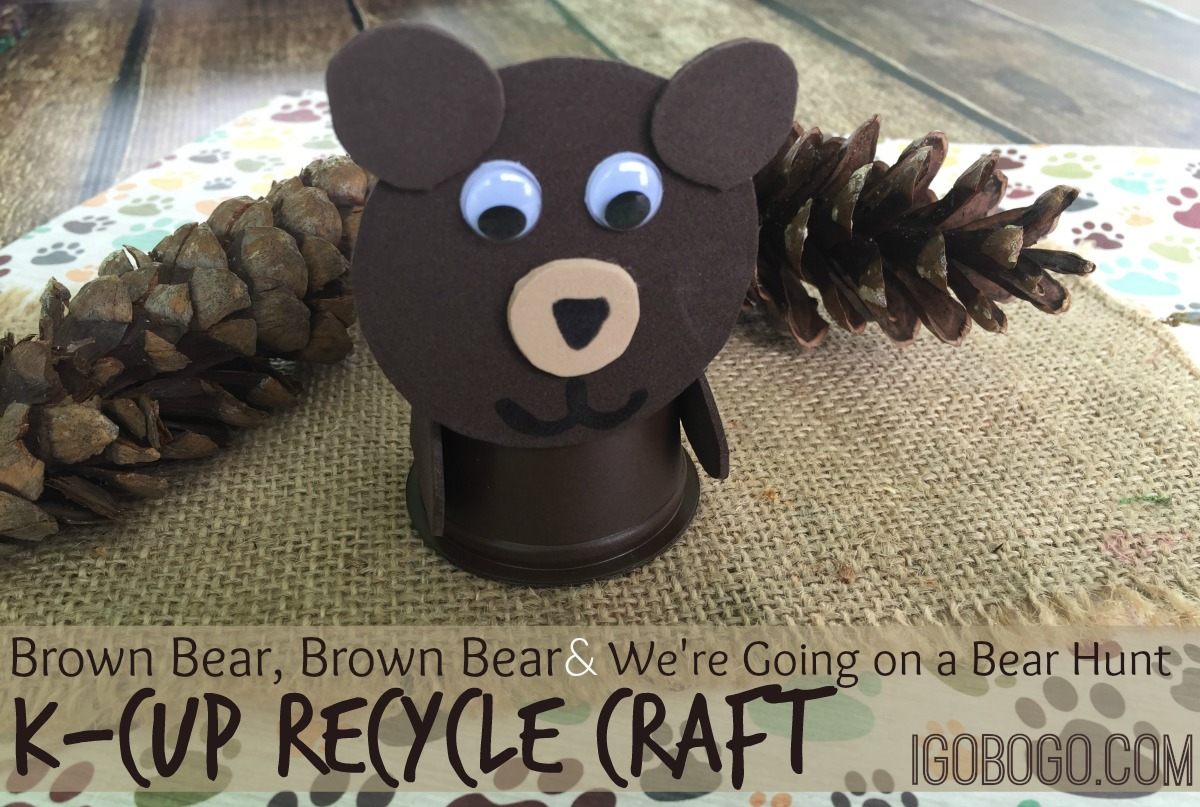 Brown Bear or Bear Hunt Book K-Cup Craft